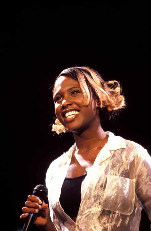 Nineties pop star … Michelle Gayle on stage.