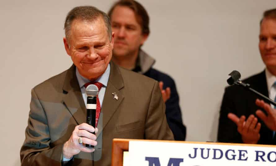 Republican Senate candidate Roy Moore on 12 December 2017.