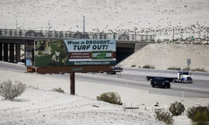 A sign advertising artificial turf in Cathedral City, California