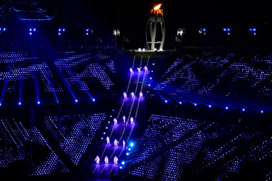 Dancers during the Olympic closing ceremony