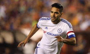 Radamel Falcao in action for Chelsea during the International Champions Cup match against Barcelona.