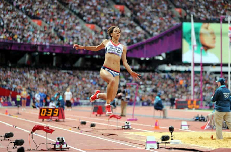 Katarina Thompson-Johnson in the long jump during the heptathlon at London 2012