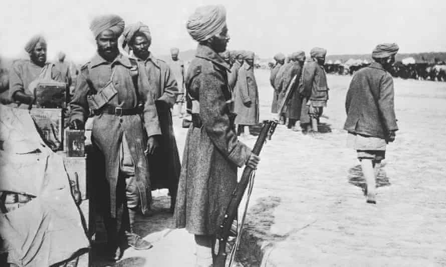 Indian soldiers serving in France during the first world war.