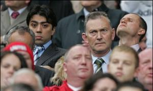 Kia Joorabchian, next to Big Scudes at Old Trafford back in 2015.