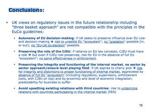 Slide from 'regulatory issues' presentation