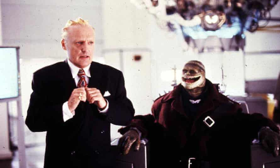 Dennis Hopper as villain King Koopa, switched from the games' giant turtle to a businessman descended from dinosaurs