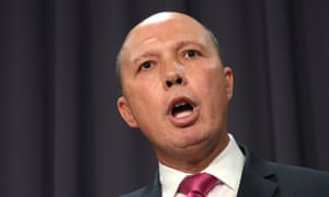 Peter Dutton has reacted strongly to the Greens holding him accountable for stoking anti-Islamic sentiment.