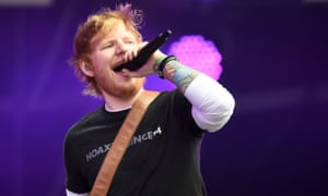 Ed Sheeran performs during the first day of BBC Radio 1's Biggest Weekend at Singleton Park, Swansea