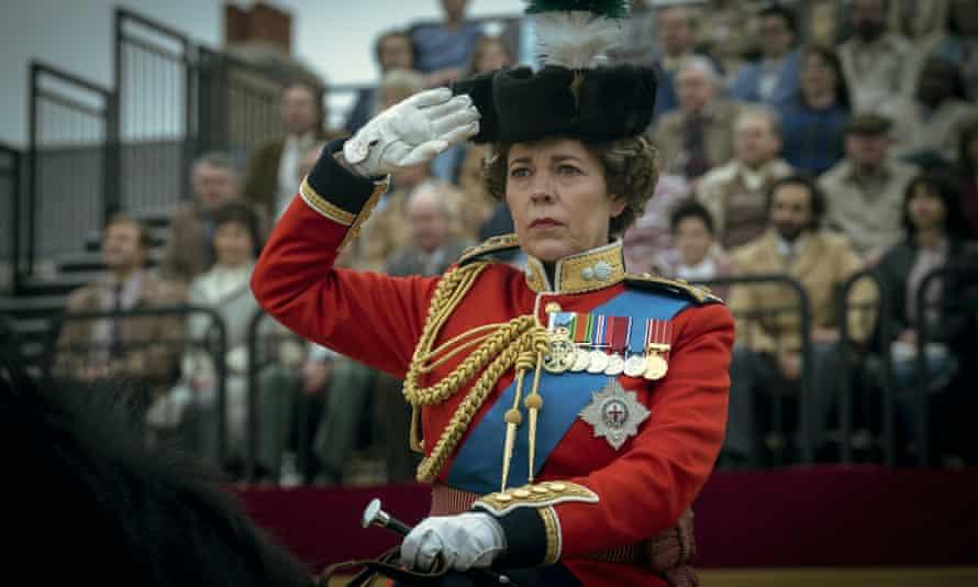 Olivia Colman as Queen Elizabeth II in a scene from The Crown.