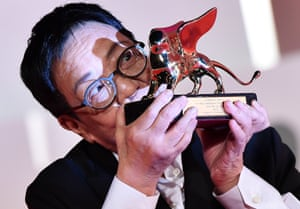 Venice, ItalyChinese director Ann Hui receives the Golden Lion for Lifetime Achievement Award during the 77th annual Venice International Film Festival.