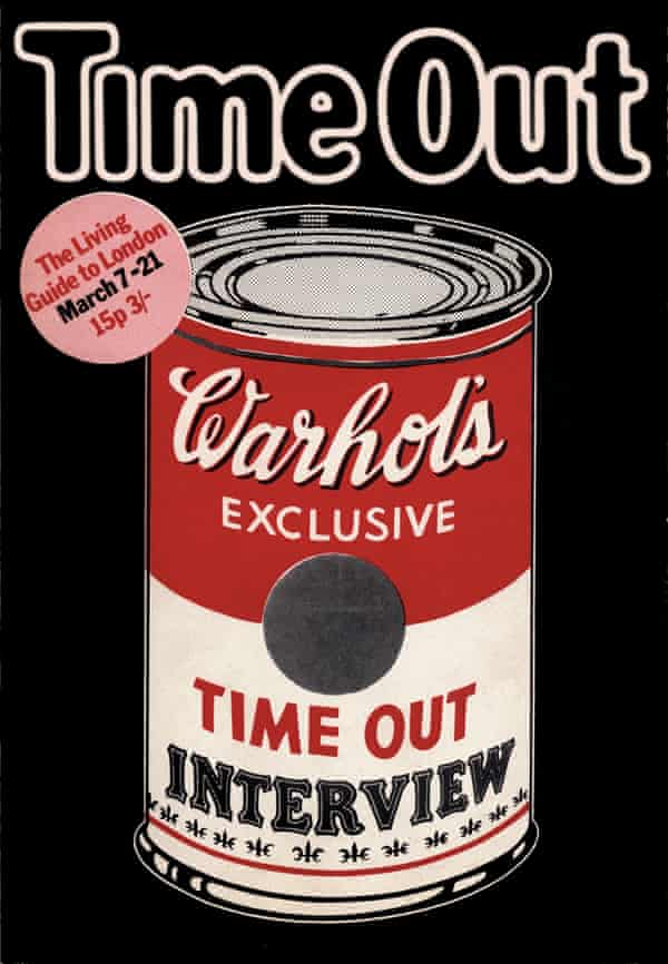 Time Out cover from 1971 by Pearce Marchbank, illustrated by Peter Brookes
