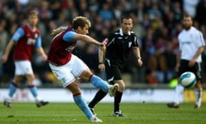 Stiliyan Petrov scores a memorable long-range effort against Derby in 2008.