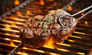 Steak on a barbecue