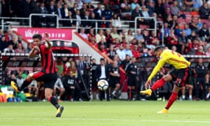 Étienne Capoue scores Watford's second goal from 25 yards.
