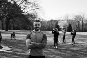 David Cummings runs an exercise group in Heath Park