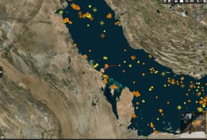 Oil tankers in the Gulf