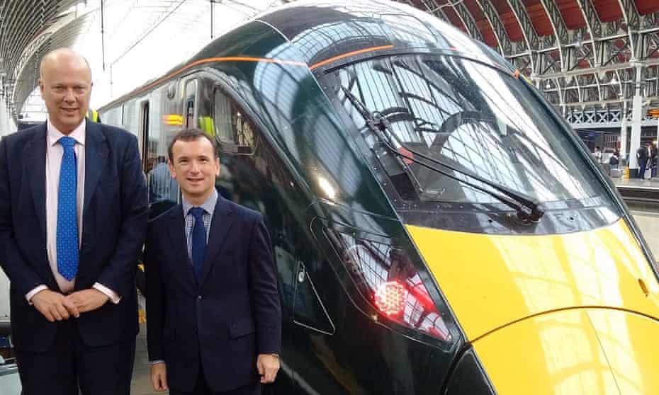 Transport Secretary Chris Grayling (left) and Wales Secretary Alun Cairns