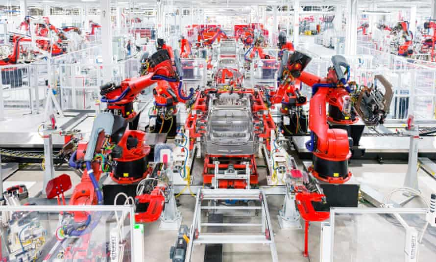 Robots at Tesla