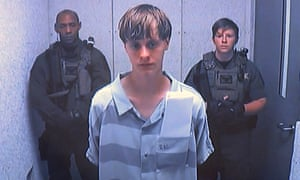 Dylann Roof appears before a judge after his capture.
