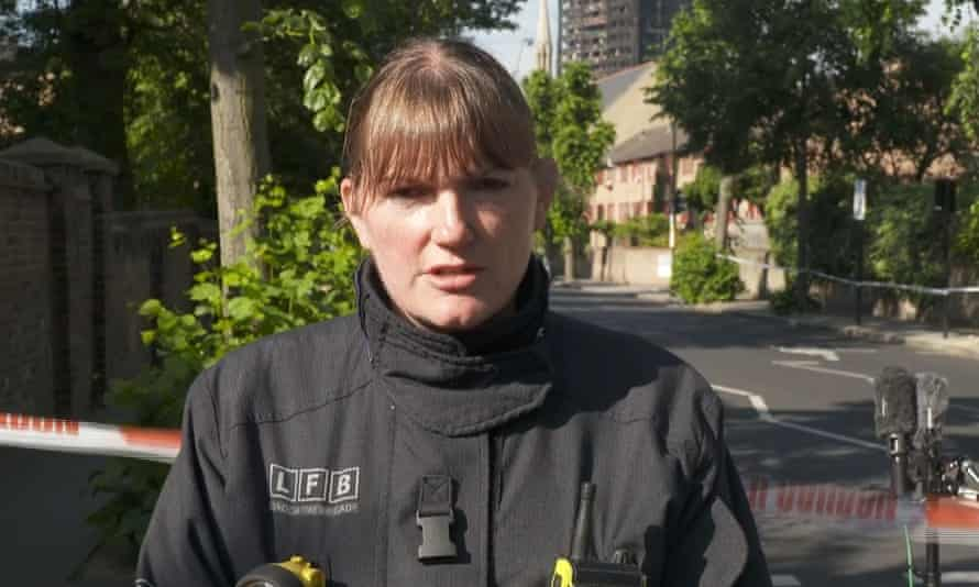 London fire commissioner Dany Cotton talks to the press after the Grenfell Tower fire.
