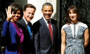 David and Samantha Cameron with Barack and Michelle Obama in London in May 2011