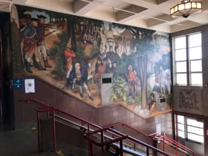 A mural at George Washington high school.