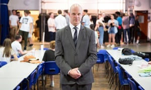Headteacher Paul Stubbings at the Cardinal Vaughan Memorial school in Holland Park, west London.