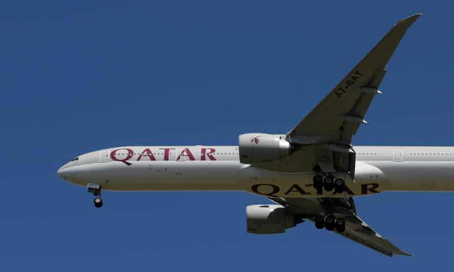 File photo of a Qatar Airways passenger plane