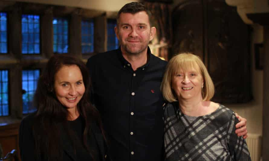 Together again: Dominic Matteo with his wife Jess, left, and birth mother Margaret.
