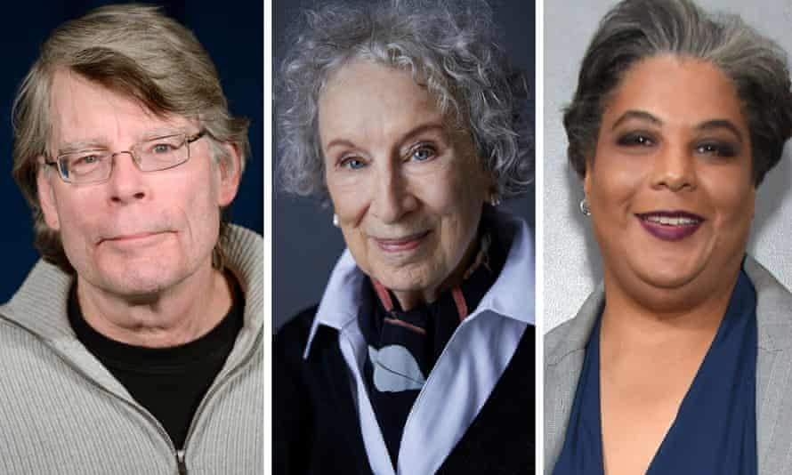 Stephen King, Margaret Atwood and Roxane Gay.
