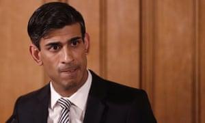UK chancellor Rishi Sunak