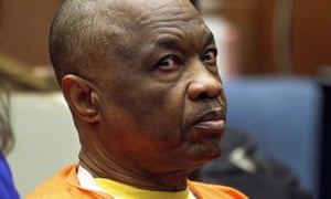 Lonnie Franklin, dubbed the 'Grim Sleeper' for an apparent hiatus between killings, sits during a court hearing in Los Angeles.
