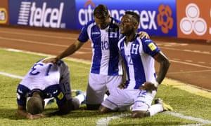 Honduras player Romell Quioto
