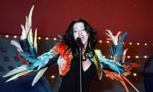 Dana International, winner of the 1998 Eurovision Song Contest.
