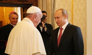 Vladimir Putin finally makes to his meeting with Pope Francis in the Vatican on Wednesday. However, Russia's president seems to always be on time for televised press conferences and set-piece events.