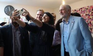 Jeremy Corbyn meets voters in Putney, the south-west London seat held by the Tories.
