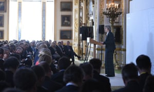Theresa May delivers her keynote Brexit speech in Lancaster House, London, last week.
