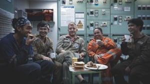 Shipmates share a laugh