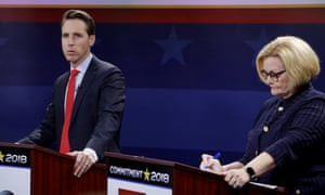 Claire McCaskill has criticized her rival, Josh Hawley, for supporting efforts to scrap Obamacare.