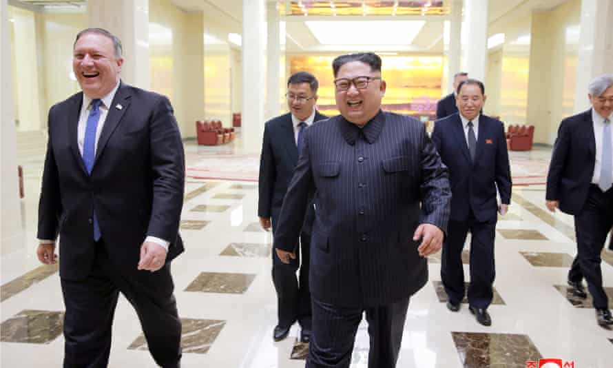 Mike Pompeo with Kim Jong-un in May. The secretary of state wants to further denuclearization talks.