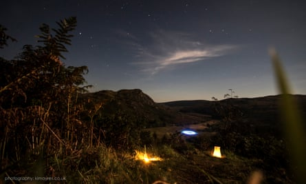 Stars twinkle over Galloway Forest Park.