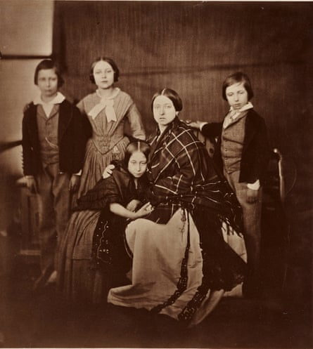 Queen Victoria with her four eldest children, 1854, c.1880 copy of original by Roger Fenton.