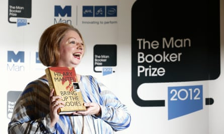 Hilary Mantel after winning the 2012 Man Booker prize for her novel Bring Up the Bodies.