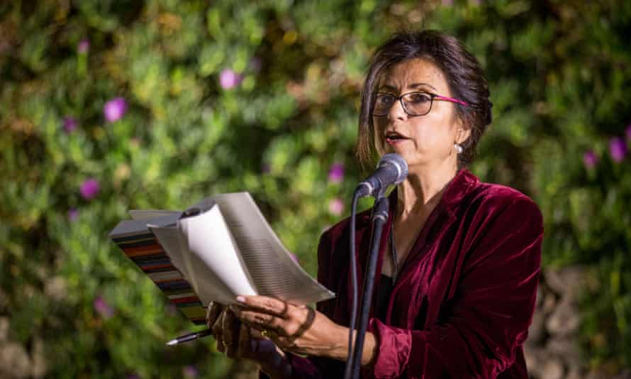 Ahdaf Soueif at the 2017 PalFest in Ramallah, Palestine.