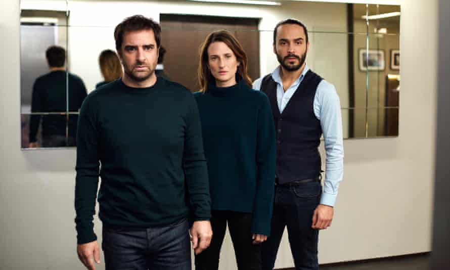 Gregory Montel, Camille Cottin and Assaad Bouab in Call My Agent