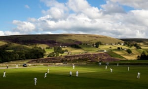 Marsden taken on Lepton Highlanders at Marsden Cricket Club in Huddersfield, England
