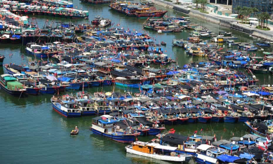 Fishing boats in Hainan province.