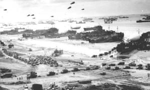 Omaha Beach in Normandy is secured after heavy fighting against the Germans on D-day, 6 June 1944.
