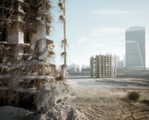 The work aims to highlight the scant space we leave for nature