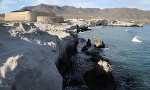 Cabo de Gata. Castillo de San Felipe, 18th century fort at Los Escullos village,